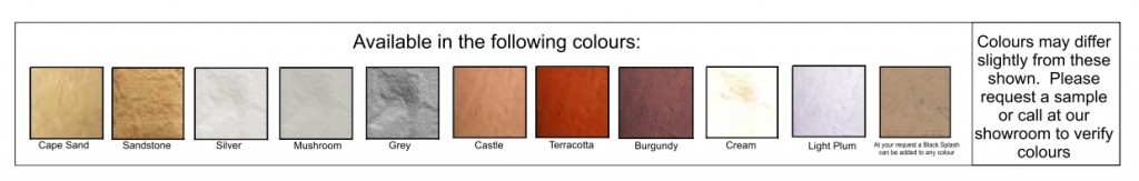 Arum cast stone color swatch