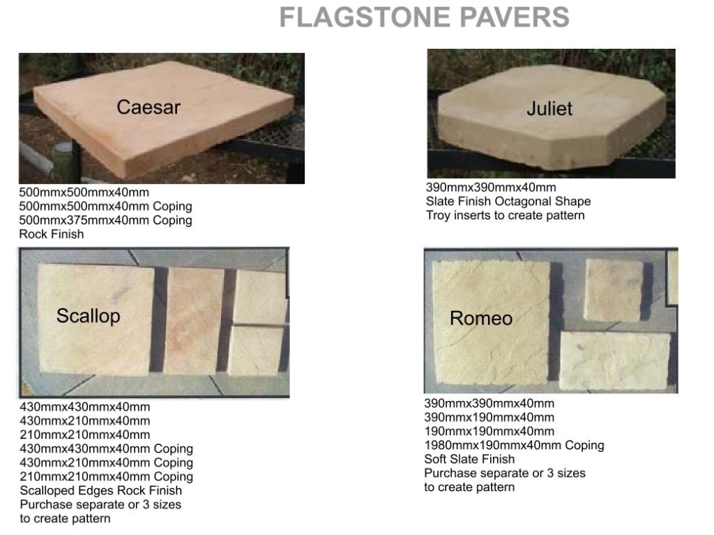 Arum cast stone flagstone pavers