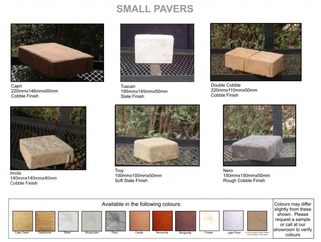 Arum cast stone small pavers