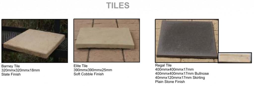Arum cast stone tiles